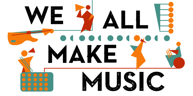 'We all make music' logo